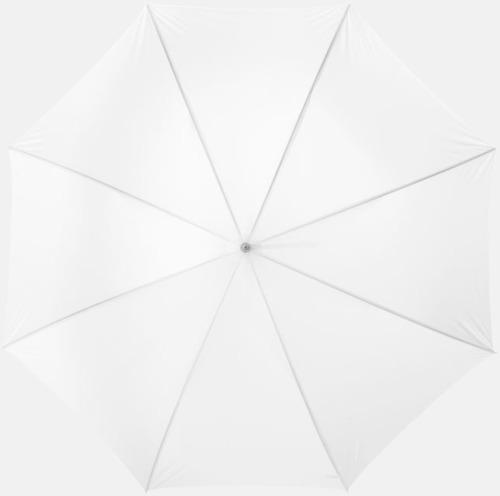 Vit Automatiskt paraply i flera färger med eget reklamtryck