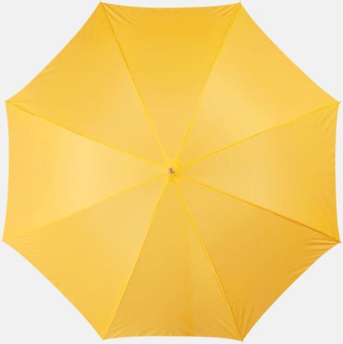 Gul Automatiskt paraply i flera färger med eget reklamtryck