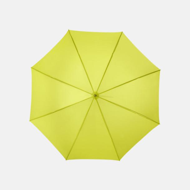 Neongrön Automatiskt paraply i flera färger med eget reklamtryck