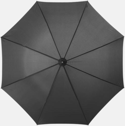 Svart Automatiskt paraply i flera färger med eget reklamtryck