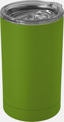 Limegrön Burkhållare med lock med reklamtryck