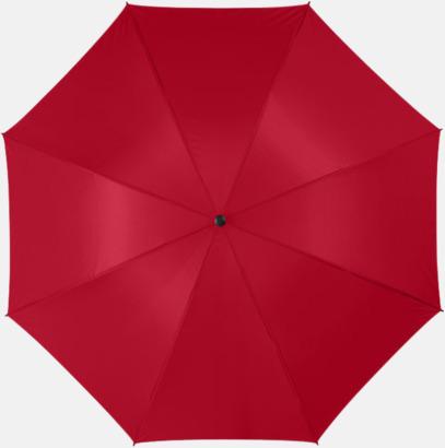 """Röd 30""""-stormparaplyer med reklamtryck"""
