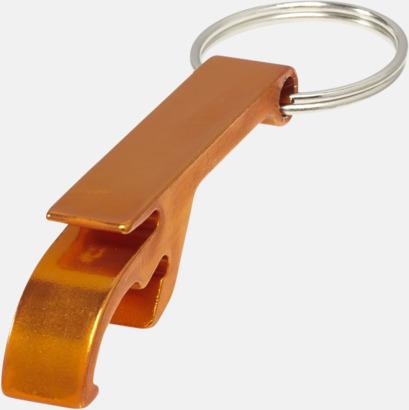 Orange Nyckelring och kloöppnare med tryck eller lasergravyr