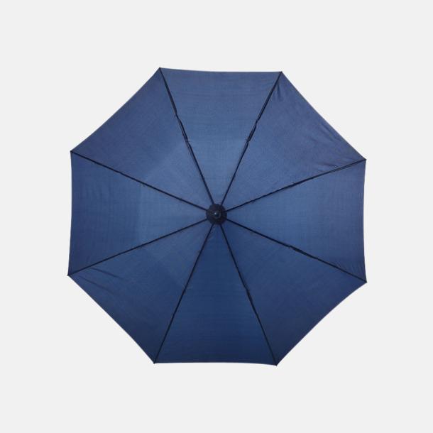 Marinblå Kompakt paraply med eget reklamtryck