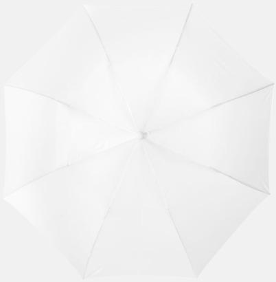 Vit Kompakt paraply med eget reklamtryck