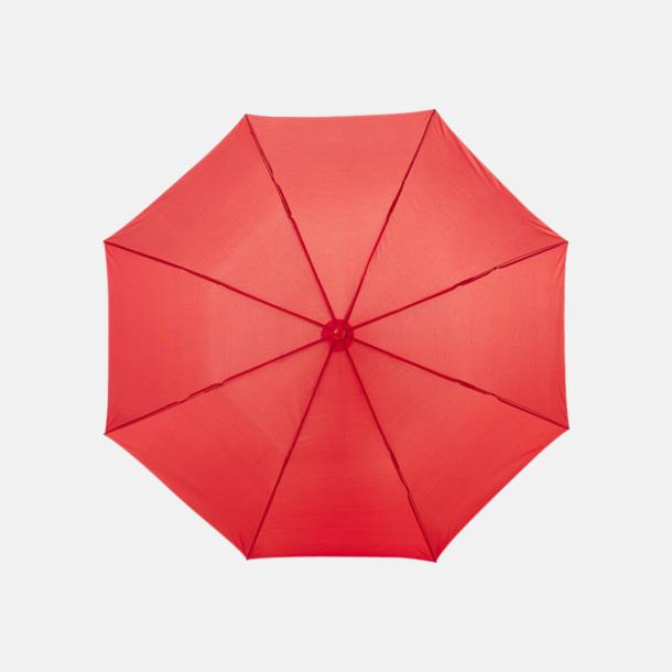 Röd Kompakt paraply med eget reklamtryck