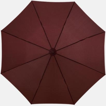 Brun Kompakt paraply med eget reklamtryck