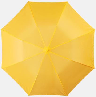 Gul Kompakt paraply med eget reklamtryck