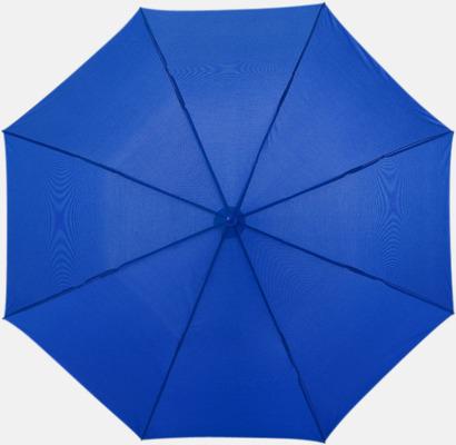 Kungsblå Kompakt paraply med eget reklamtryck