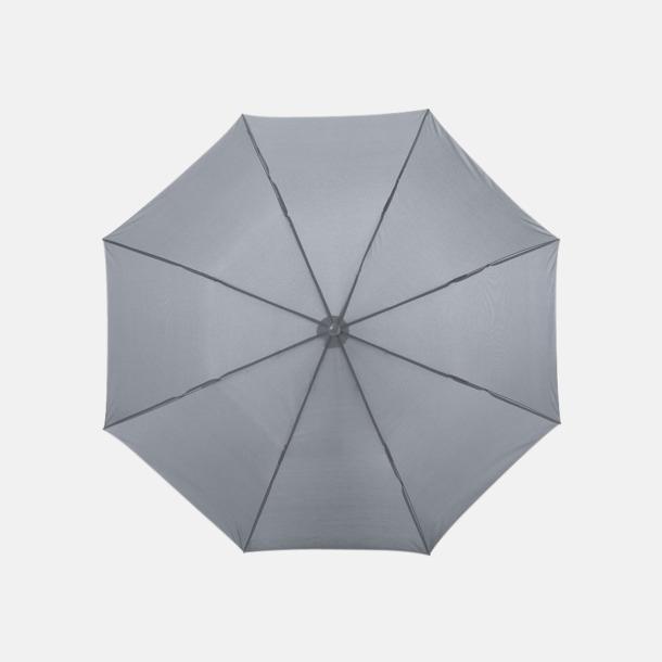 Grå Kompakt paraply med eget reklamtryck