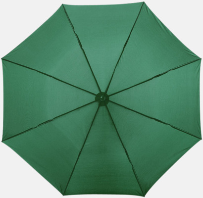 Grön Kompakt paraply med eget reklamtryck