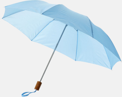 Blå Kompakt paraply med eget reklamtryck