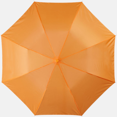 Orange Kompakt paraply med eget reklamtryck