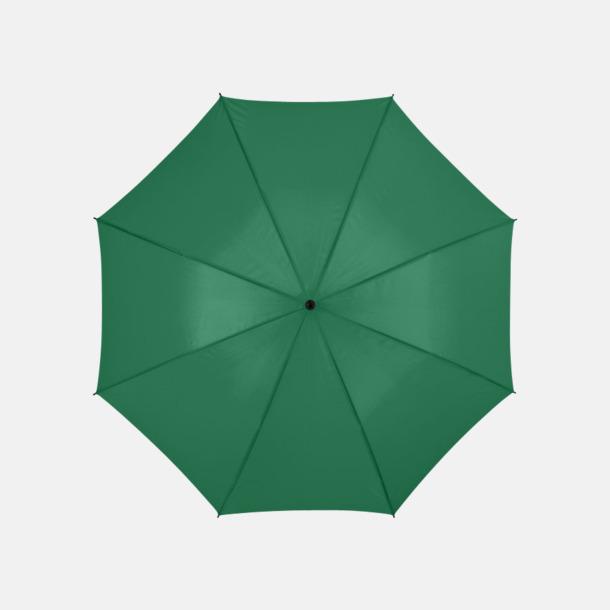 Grön Stora, automatiska paraplyer med reklamtryck