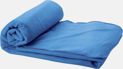 Processblå Fleecefilt och bag - med tryck