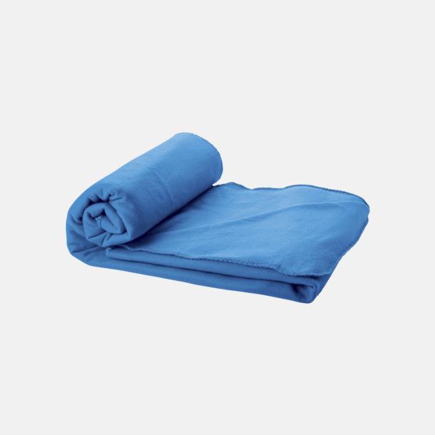 Processblå Fleecefilt och bag - med reklamtryck