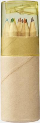 Natur / Gul Färgpennor med reklamtryck - egen logo - 6 eller 12 färger