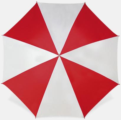 Vit / Röd Stora golfparaplyer med reklamtryck
