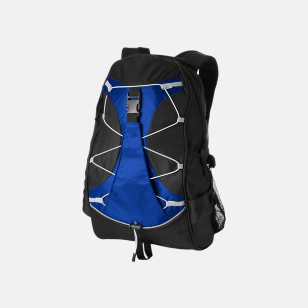 Svart/Royal Utflyktsryggsäckar med reklamtryck