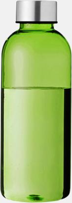Transparent grön/Silver Stilrena vattenflaskor med reklamtryck