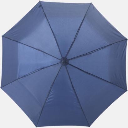 Marinblå Kompaktparaply med eget reklamtryck