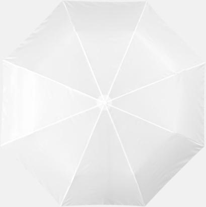 Vit Kompaktparaply med eget reklamtryck