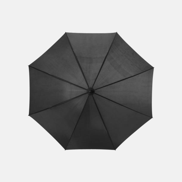 Svart Stort golfparaply med eget reklamreyck