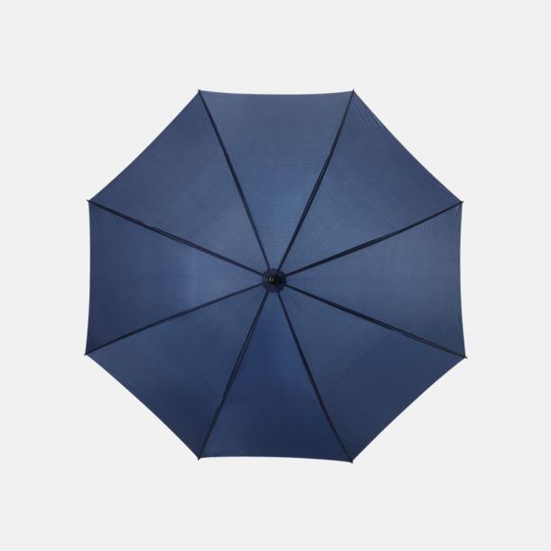 Marinblå Stort golfparaply med eget reklamreyck