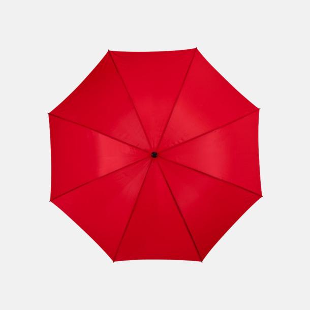 Röd Stort golfparaply med eget reklamreyck