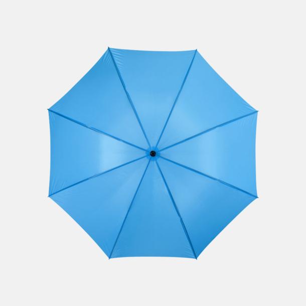 Blå Stort golfparaply med eget reklamreyck