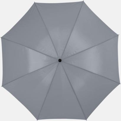 Grå Stort golfparaply med eget reklamreyck