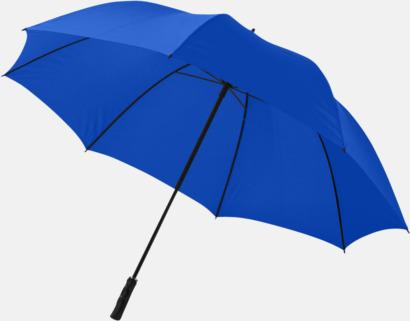 Kungsblå Stort golfparaply med eget reklamreyck