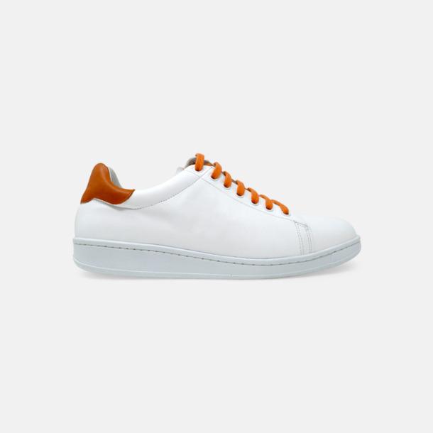 Vit / Orange Tennis Sneakers med egen logga