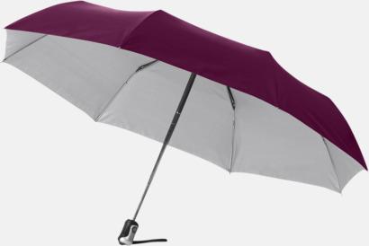 Röd/Silver Kompakta paraplyer med eget reklamtryck