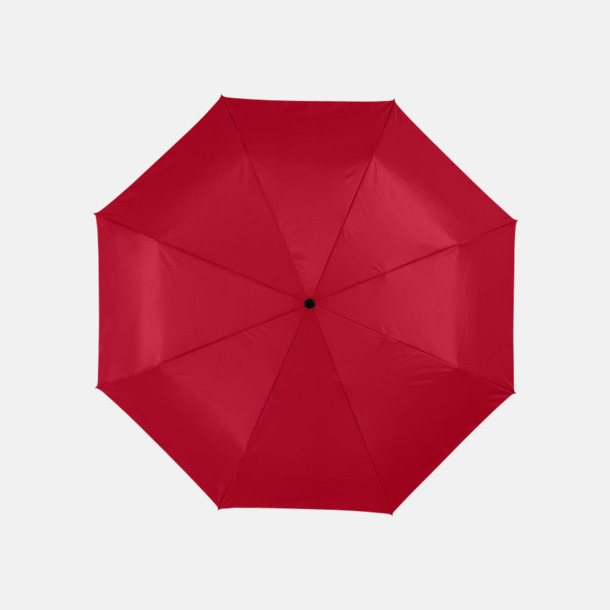 Röd Kompakta paraplyer med eget reklamtryck