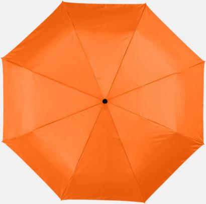 Orange Kompakta paraplyer med eget reklamtryck