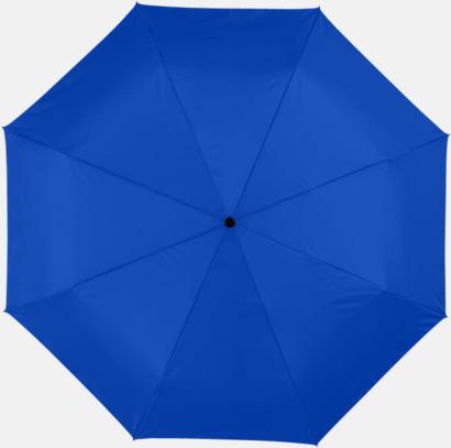 Kungsblå Kompakta paraplyer med eget reklamtryck