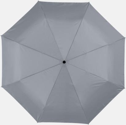 Grå Kompakta paraplyer med eget reklamtryck