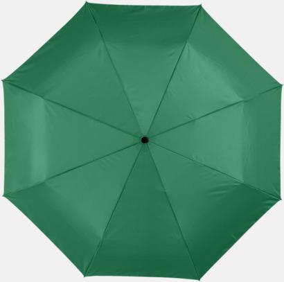 Grön Kompakta paraplyer med eget reklamtryck
