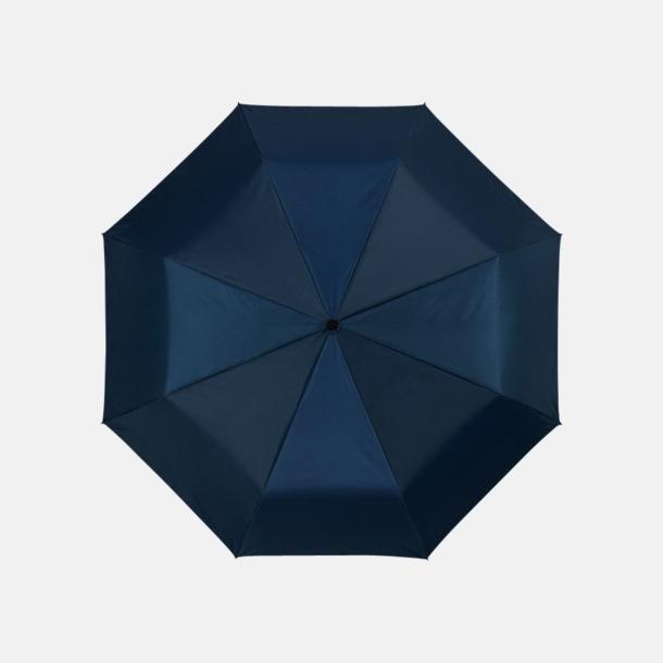Marinblå / Silver Kompakta paraplyer med eget reklamtryck