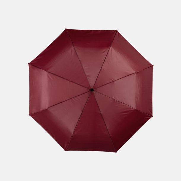 Vinröd Kompakta paraplyer med eget reklamtryck