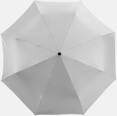 Svart / Silver Kompakta paraplyer med eget reklamtryck
