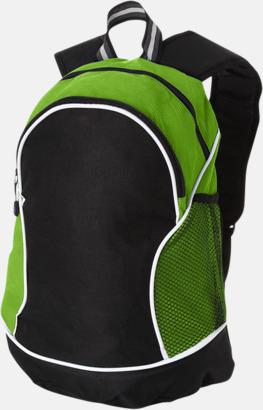 Svart / Limegrön Sportiga ryggsäckar med reklamtryck
