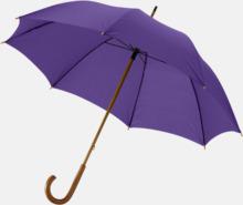 Klassiskt paraply med träskaft med eget rekalmtryck