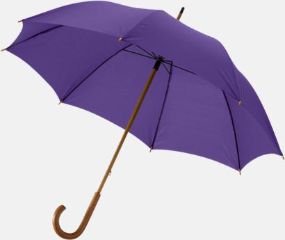 Lavendel Klassiskt paraply med träskaft med eget rekalmtryck