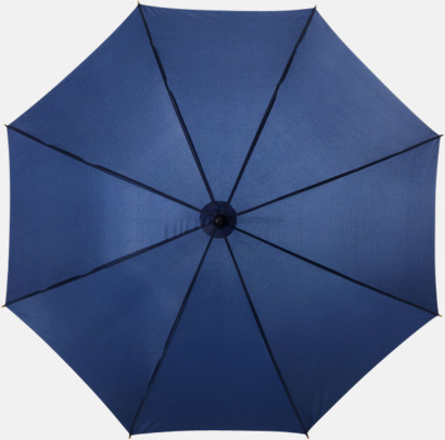 Marinblå Klassiskt paraply med träskaft med eget rekalmtryck