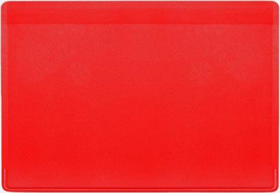 Röd Korthållare med reklamtryck