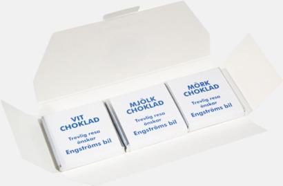 3-pack (se tillval) Chokladbitar med reklamtryckt banderoll