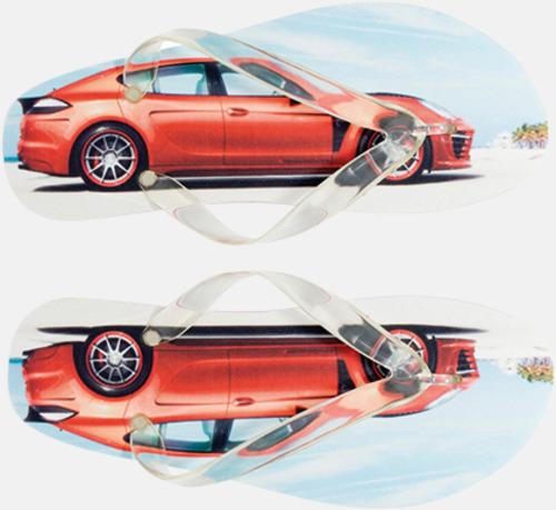 Utfallande Digitaltryck Sköna flip flops i skum med eget reklamtryck