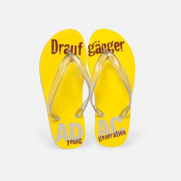 Sköna flip flops i skum med eget reklamtryck